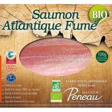 Saumon fumé d'Atlantique bio 2 tranches 100g