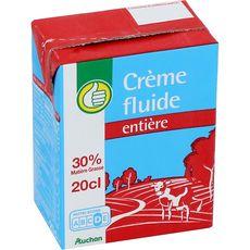 AUCHAN ESSENTIEL AUCHAN ESSENTIEL Crème fluide 30%MG UHT 20cl 20cl