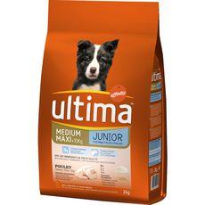 ULTIMA Ultima medium maxi junior croquette poulet et riz -10kg 2kg