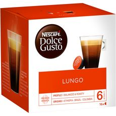 DOLCE GUSTO Capsules de café lungo 16 capsules 112g