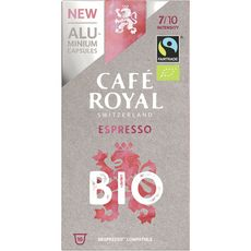 CAFE ROYAL Café espresso bio en capsule compatible Nespresso 10 capsules 50g