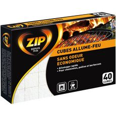 Zip ZIP Zip Allume feux classique sans odeur x40 cubes