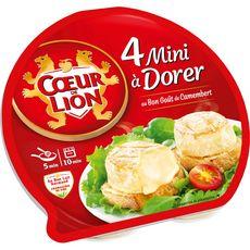 COEUR DE LION Mini camembert à dorer 90g
