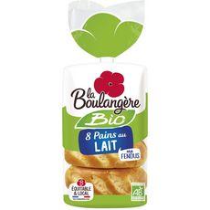 LA BOULANGERE Pains au lait fendus bio 280g
