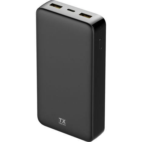 TX Batterie de secours 20000 mAh Noir