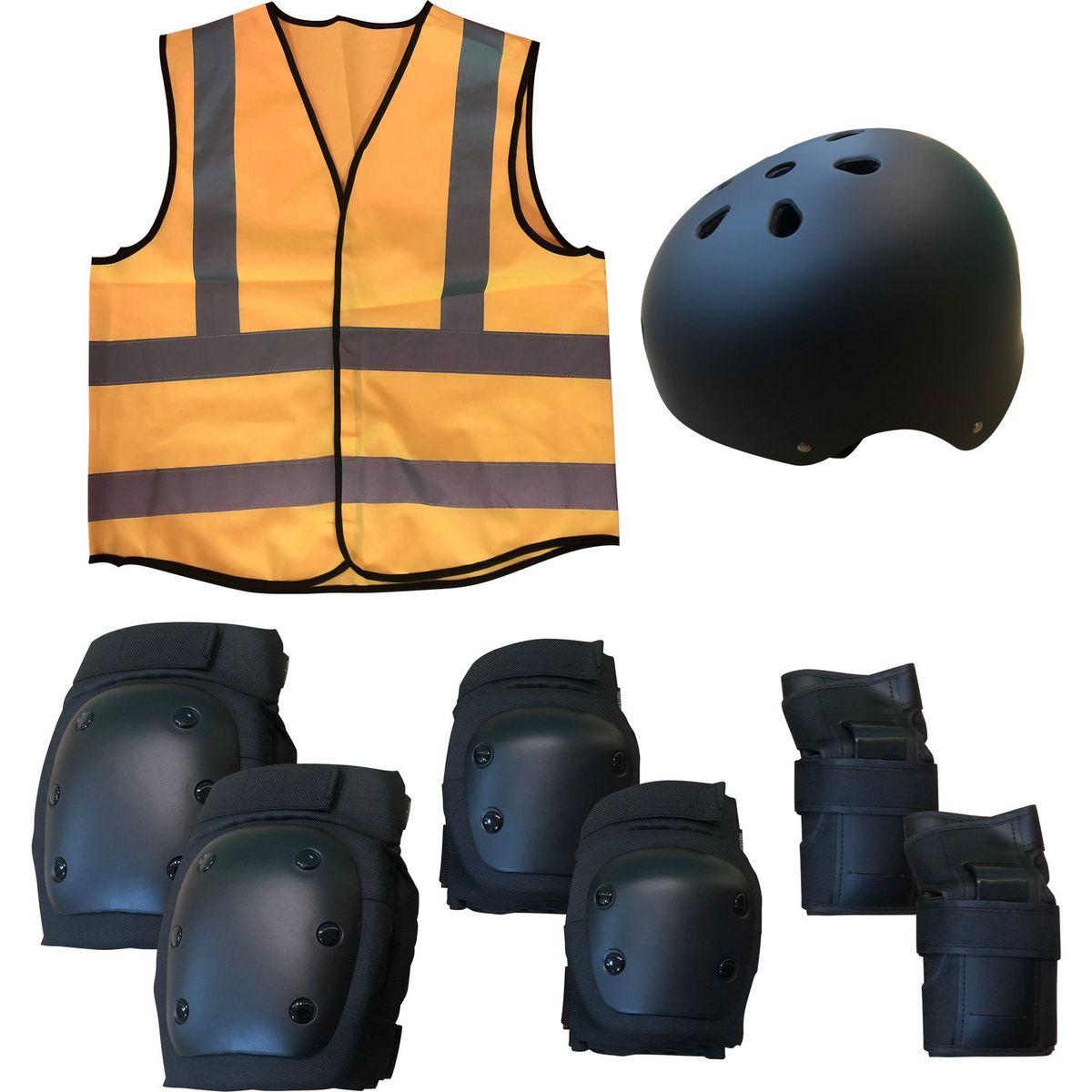 Set de protection 5 en 1 pour enfant Noir et Orange