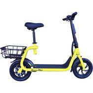 MOOVWAY Scooter électrique Pliable avec selle E-Scooter City Moov Jaune