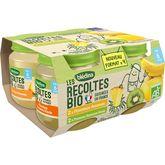 Blédina Blédina Petits pots dessert 2 variétés aux fruits bio dès 6 mois 4x130g