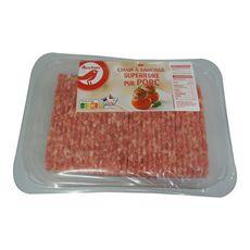 AUCHAN Chair à saucisse pur porc 1kg