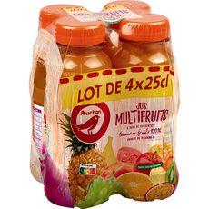 AUCHAN Jus multifruits à base de concentré bouteilles 4x25cl