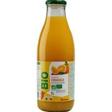 Auchan bio pur jus orange bouteille verre 1l