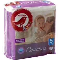 AUCHAN BABY Couches taille 5 (11-25kg) 23 couches
