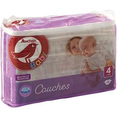 AUCHAN BABY Couches taille 4 (7-18kg) 48 couches