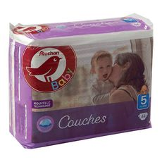 AUCHAN BABY Couches taille 5 (11-25kg) 44 couches