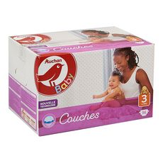 AUCHAN BABY Couches taille 3 (4-9kg) 96 couches