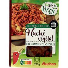 AUCHAN Auchan Hâché végétal tomates mi-séchées 1 portion 200g 1 portion 200g