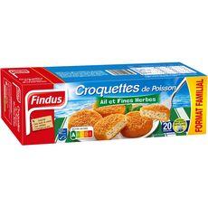 FINDUS Croquette de poisson ail et fines herbes MSC 20 pièces 1kg