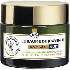La Provençale Bio Baume de jouvence anti-âge nuit huile d'olive bio 50ml