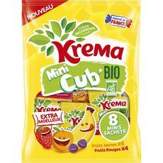 Krema Mini cub' bio fruits jaunes et rouges minis sachets x8 -160g