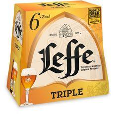 Abbaye de leffe Bière blonde triple 8,5% bouteilles 6x25cl