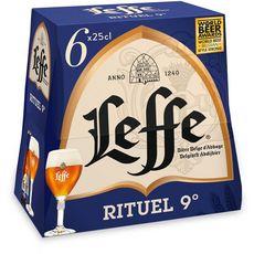 LEFFE Leffe bière blonde 9% bouteilles 6x25cl 6x25cl