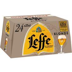 Abbaye de leffe Bière blonde 6,6% bouteilles 24x25cl