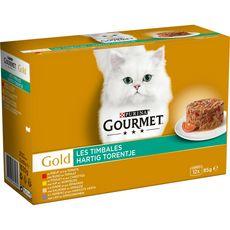 GOURMET Gold les timbales barquettes pâtée viande légumes pour chat 12x85g