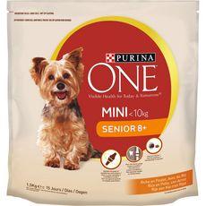 PURINA One mini senior 8+ croquettes au poulet riz pour chien 1,5kg