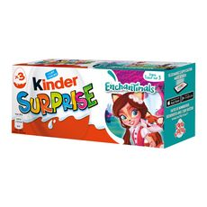 Kinder Surprise Enchantimals œufs au chocolat x3- 60g