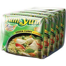 YUM YUM Yum Yum nouilles instantanées au curry vert 5x60g