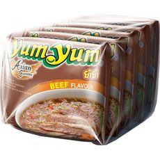 YUM YUM Nouilles asiatiques instantanées saveur bœuf 5X60g