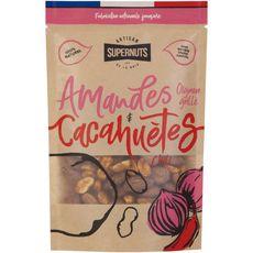 Supernuts amandes aux oignons et cacahuètes au chili 100g