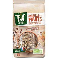 TERRES ET CEREALES BIO Muesli aux fruits 1kg