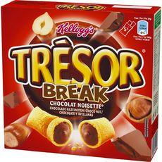 TRESOR Break barres chocolat noisette 5 barres 130g