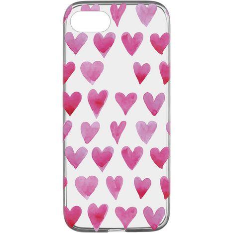 CELLULARLINE Coque de protection pour iPhone 6/7/8 Transparent et rose Cœur