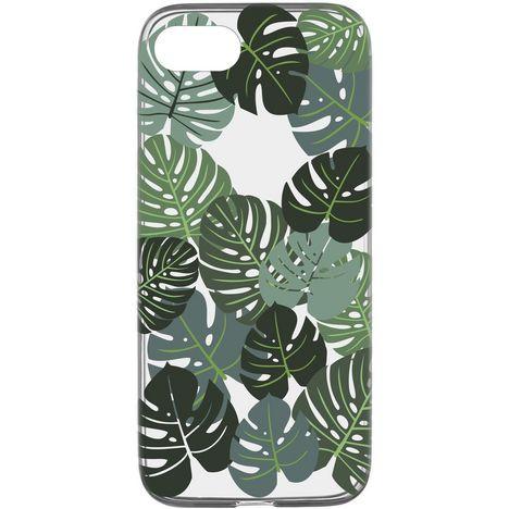 CELLULARLINE Coque de protection pour iPhone 6/7/8 Transparent et vert Feuilles