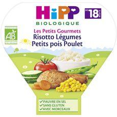 HIPP Assiette risotto légumes petits pois poulet bio dès 18 mois 260g