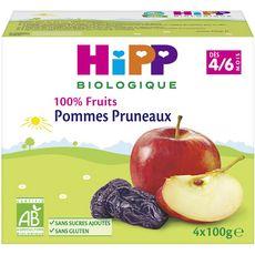 HIPP Hipp bio coupelle pomme pruneaux 4x100g 4-6 mois
