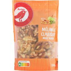 AUCHAN Mélange de noix, raisins secs et graines de courge 150g