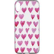 CELLULARLINE Coque de protection pour iPhone X/XS Transparent et rose Coeur