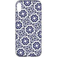 CELLULARLINE Coque de protection pour iPhone X/XS Transparent et bleu foncé Mosaïque