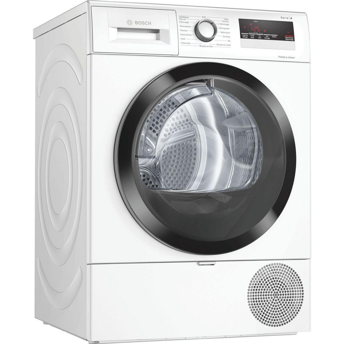 Sèche linge hublot WTR85V02FF, 8 kg, pompe à chaleur
