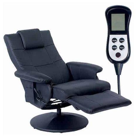 HOME STYLE Fauteuil de massage relax - Noir