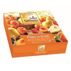 SAINT SIFFREIN Pâtes de fruits abricot fraise poire et mûre 24 sachets 720g