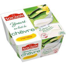 Soignon yt 0% chevre vanil x4