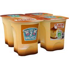 LES 2 VACHES Flan bio vanille caramel 4x100g