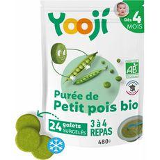 Yooji purée lisse de petits pois 480g dès 4mois