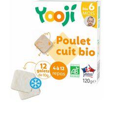 Yooji YOOJI Galets de poulet cuit bio dès 6 mois