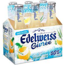 EDELWEISS Edelweiss Bière blanche sans alcool arôme citron givré bouteilles 6x25cl 6x25cl