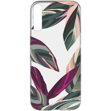 CELLULARLINE Coque de protection pour Samsung Galaxy A50 Transparent, vert et rose Forêt